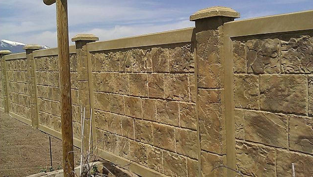 Brown Concrete Fences || RhinoRock.com